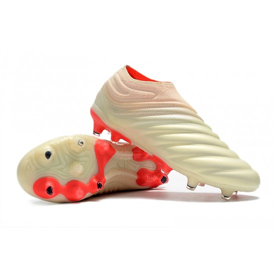 Adidas Copa 19 FG Beige Red Football Boots