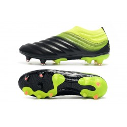 Adidas Copa 19 FG Black Green Football Boots