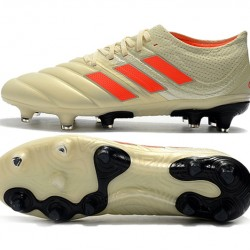 Adidas Copa 19.1 FG Orange Beige Black Football Boots