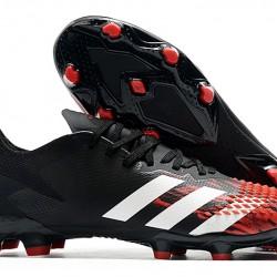 Adidas Predator 20.2 FG Low White Black Red Football Boots