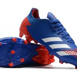 Adidas Predator 20.2 FG Low White Blue Orange Football Boots