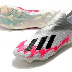Adidas X 19 FG Silver Peach Black Football Boots