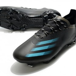Adidas X Ghosted 1 FG Black Blue Football Boots
