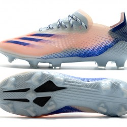 Adidas X Ghosted 1 TF Blue Pink Silver Football Boots