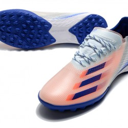Adidas X Ghosted 1 TF Blue Pink White Football Boots