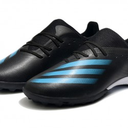 Adidas X Ghosted 3 TF Black Blue Football Boots