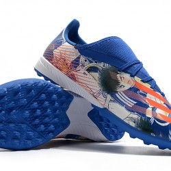 Adidas X Ghosted 3 TF Navy Blue Orange Football Boots