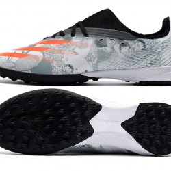 Adidas X Ghosted 3 TF White Black Orange Football Boots