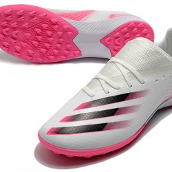 Adidas X Ghosted 3 TF White Pink Black Football Boots