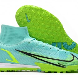 Nike Mercurial Superfly 9 Elite TF 39 45 Light Blue High Yellow Football Boots