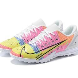 Nike Vapor 14 Academy TF 39 45 White Purple Yellow Black Low Football Boots