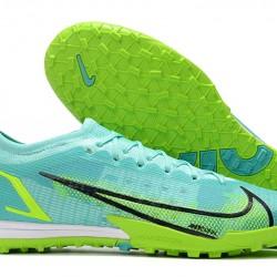 Nike Vapor 14 Elite TF 39 45 Light Blue Black Low Football Boots
