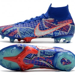 Nike Mercurial Superfly 7 Elite FG Blue Silver Football Boots