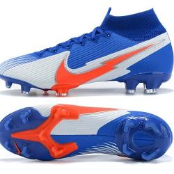 Nike Mercurial Superfly 7 Elite FG Deep Blue Orange Silver Football Boots