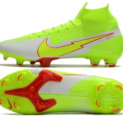 Nike Mercurial Superfly 7 Elite FG High Mens Green Red Grey Football Boots