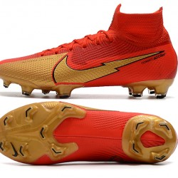 Nike Mercurial Superfly 7 Elite FG Red Gold Football Boots