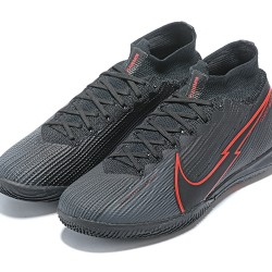 Nike Mercurial Superfly 7 Elite MDS IC Black Red Football Boots