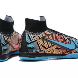 Nike Mercurial Superfly 7 Elite MDS IC Blue Black Orange Football Boots