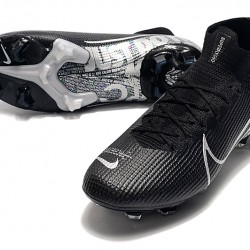 Nike Mercurial Superfly 7 Elite SE FG Black Silver Football Boots