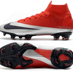 Nike Mercurial Superfly 7 Elite SE FG Deep Red Silver Black Football Boots