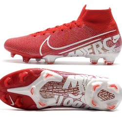 Nike Mercurial Superfly 7 Elite SE FG Deep Red White Football Boots
