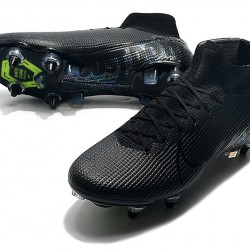 Nike Mercurial Superfly 7 Elite SG-PRO AC High Black Green Football Boots