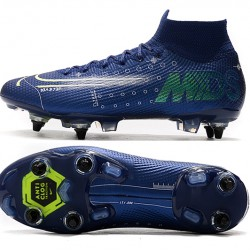Nike Mercurial Superfly 7 Elite SG-PRO AC High Deep Blue White Black Football Boots