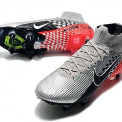 Nike Mercurial Superfly 7 Elite SG-PRO AC High Silver Black Red Football Boots