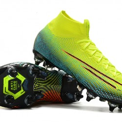 Nike Mercurial Superfly 7 Elite SG-PRO AC High Yellow Green Pink Football Boots
