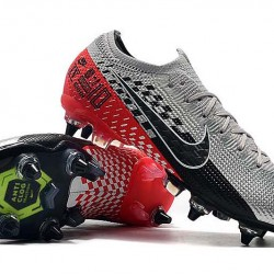 Nike Mercurial Superfly 7 Elite SG-PRO AC Low Silver Black Red Football Boots