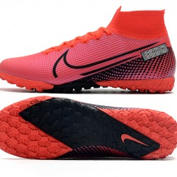 Nike Mercurial Superfly 7 Elite TF Black Red Football Boots