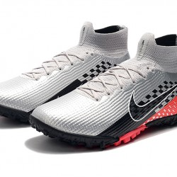 Nike Mercurial Superfly 7 Elite TF Black Red Silver Football Boots