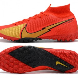 Nike Mercurial Superfly 7 Elite TF Gold Red Black Football Boots