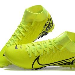 Nike Mercurial Superfly VII Academy TF Black Green Blue White Football Boots