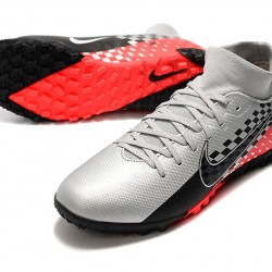 Nike Mercurial Superfly VII Academy TF Black Silver Red Football Boots