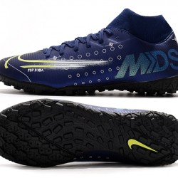 Nike Mercurial Superfly VII Academy TF Deep Blue White Green Football Boots