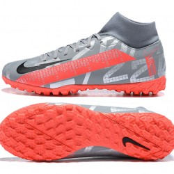 Nike Mercurial Superfly VII Academy TF Silver Black Orange Football Boots