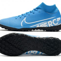 Nike Mercurial Superfly VII Academy TF White Blue Football Boots