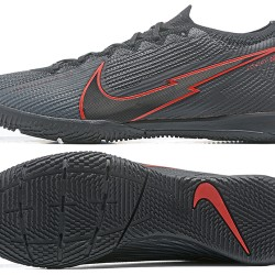 Nike Mercurial Vapor 13 Elite IC Black Red Grey Football Boots