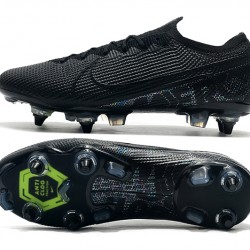Nike Mercurial Vapor 13 Elite SG-PRO AC Low Black Green Football Boots