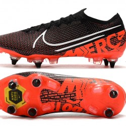 Nike Mercurial Vapor 13 Elite SG-PRO AC Low Black White Orange Football Boots