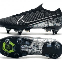 Nike Mercurial Vapor 13 Elite SG-PRO AC Low Silver Black Green Football Boots