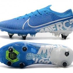 Nike Mercurial Vapor 13 Elite SG-PRO AC Low White Blue Football Boots
