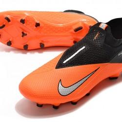 Nike Phantom Vision Elite DF FG Orange Black Silver Football Boots
