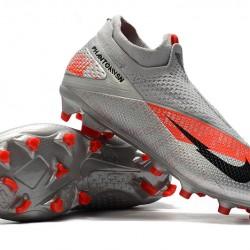 Nike Phantom Vision Elite DF FG Silver Orange Black Football Boots