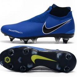 Nike Phantom Vision Elite DF SG Deep Blue Black Silver Football Boots