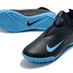 Nike React Phantom Vision 2 Pro Dynamic Fit TF Black Deep Blue Football Boots
