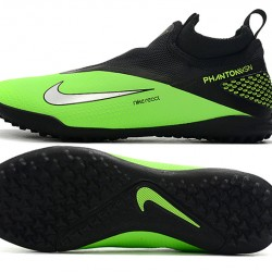 Nike React Phantom Vision 2 Pro Dynamic Fit TF Black Silver Green Football Boots