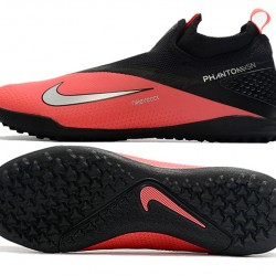 Nike React Phantom Vision 2 Pro Dynamic Fit TF Red Black Silver Football Boots