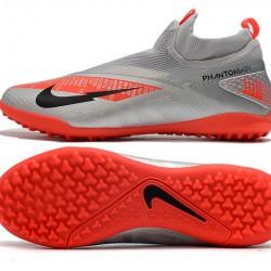 Nike React Phantom Vision 2 Pro Dynamic Fit TF Silver Orange Black Football Boots